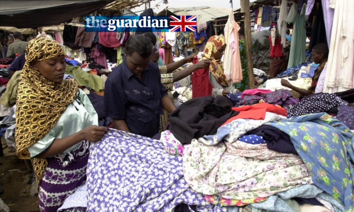 Kenyan women look for clothes at a second hand clothes market in Nairobi. (AP Photo/Khallil Senosi) Photograph: Khallil Senosi/AP