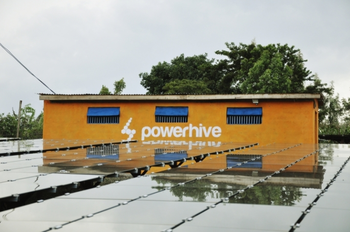 A Powerhive microgrid combining solar and storage. Image credit: Powerhive.