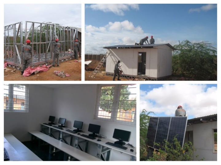 Process of building a solar classroom. IMAGE | Aleutia