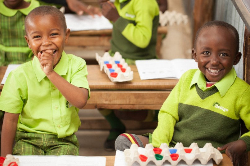Happy students at one of the over 400 Bridge Academies PHOTO: BRIDGE INTERNATIONAL ACADEMIES